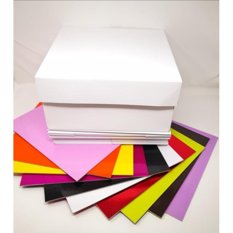 Offerta 10 scatole più 10 tavolette colorate 25 x 25 cm - Sugarmania in vendita su Sugarmania.it