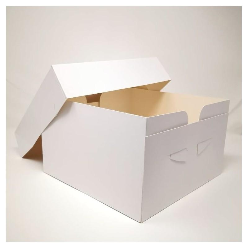 Scatola per torta bianca 40x40x15 cm - Sugarmania in vendita su Sugarmania.it