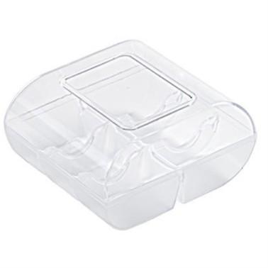 Scatolina per 6 macarons fondo nero coperchio trasparente - Silikomart in vendita su Sugarmania.it