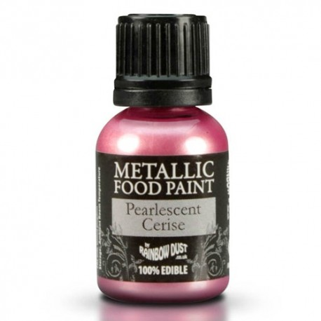 Food Paint Pearlescent Cerise - Rainbow Dust in vendita su Sugarmania.it