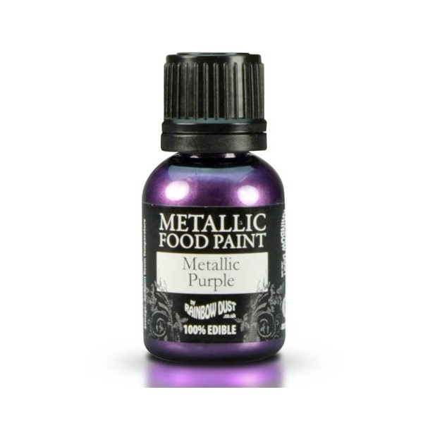 Food Paint Metalic Purple - Rainbow Dust in vendita su Sugarmania.it