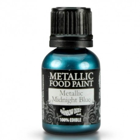 Food Paint Metalic Midnight Blue - Rainbow Dust in vendita su Sugarmania.it