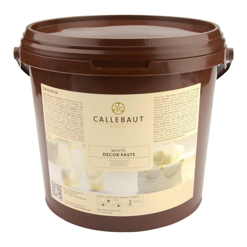 Pasta di zucchero White icing Callebaut 7kg - Carma in vendita su Sugarmania.it