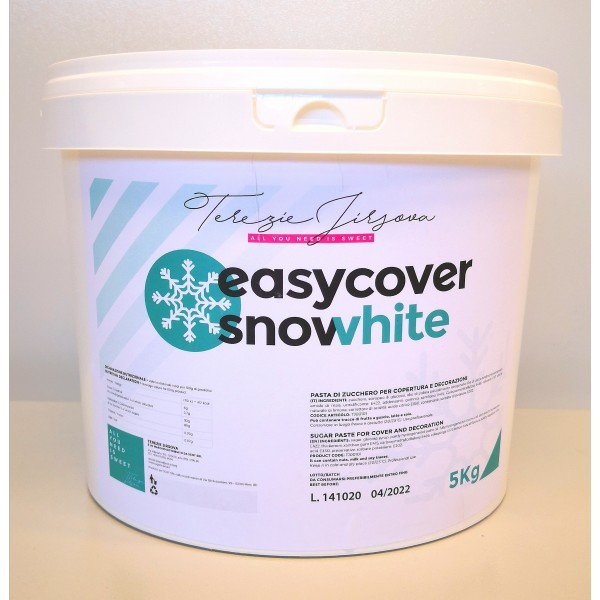 Pasta di zucchero Easy Cover Snow White 5kg - Terezie Jirsova in vendita su Sugarmania.it