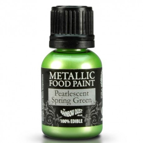 Food Paint Pearlescent Spring green - Rainbow Dust in vendita su Sugarmania.it