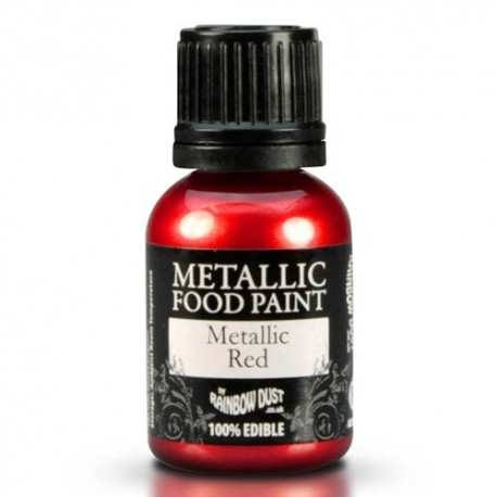 Food Paint Metalic Red - Rainbow Dust in vendita su Sugarmania.it