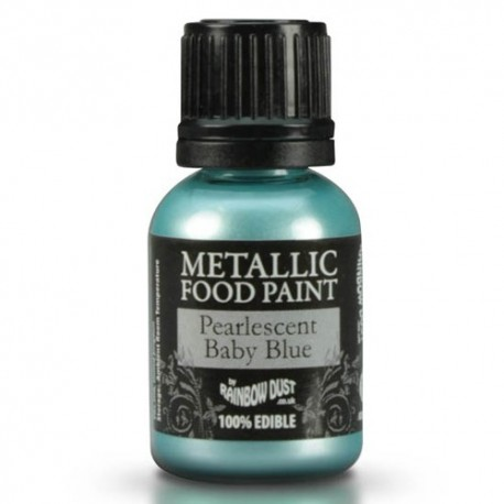 Food Paint Perlescent Baby Blue  - Rainbow Dust in vendita su Sugarmania.it
