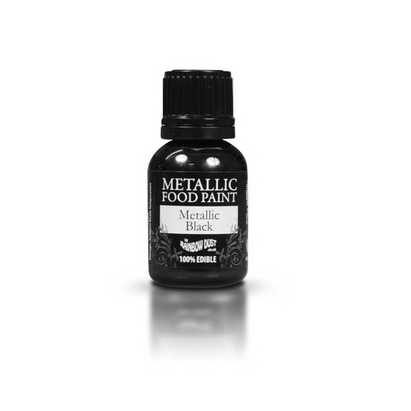 Food Paint Metalic Black - Rainbow Dust in vendita su Sugarmania.it