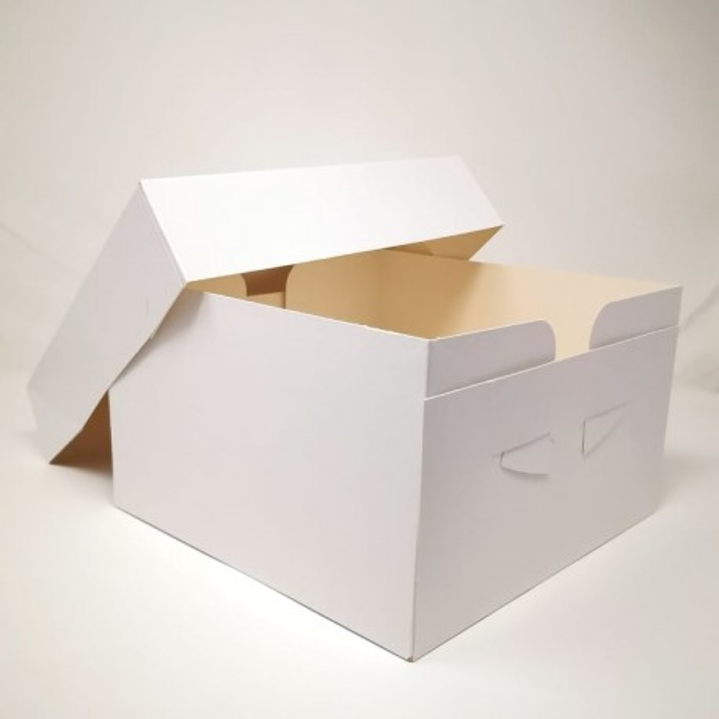 Scatola per torta bianca 40,5 x 50,5 x15 cm - Sugarmania in vendita su Sugarmania.it