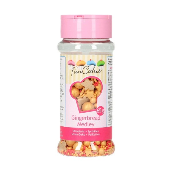 Sprinkle medley Gingerbread 65 g FunCakes - Funcakes in vendita su Sugarmania.it
