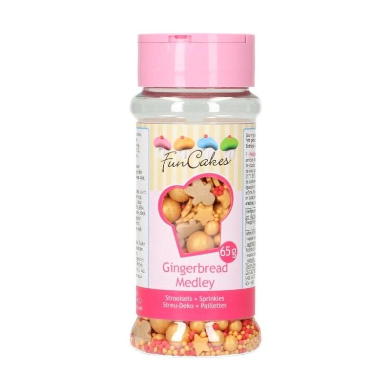 Sprinkle medley Gingerbread 65 g FunCakes - Funcakes in vendita su Sugarmania.it