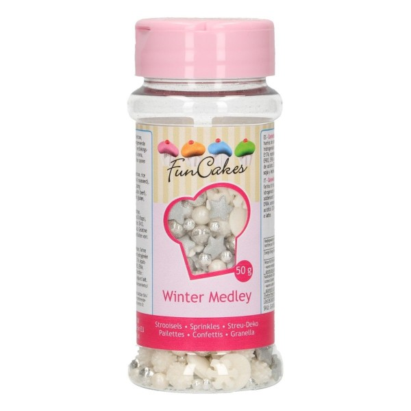 Sprinkle medley Inverno 65 g FunCakes - Funcakes in vendita su Sugarmania.it