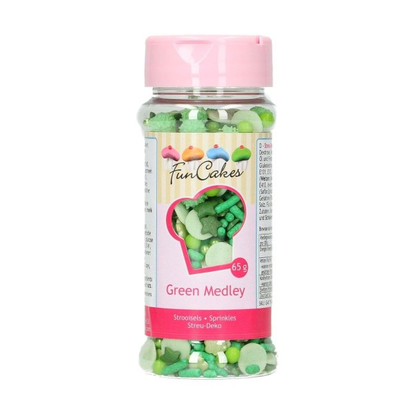 Sprinkle medley Verde 65 g FunCakes - Funcakes in vendita su Sugarmania.it