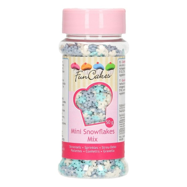 Mini Fiocchi di neve mix 50 g FunCakes - Funcakes in vendita su Sugarmania.it