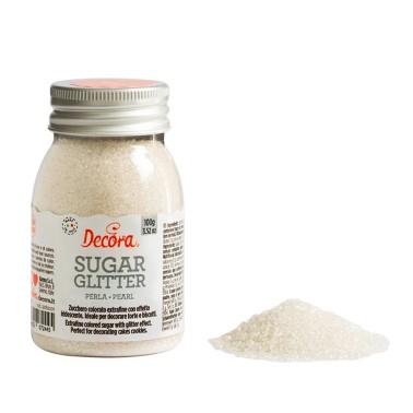 Zucchero glitterato perla Decora 100g - Decora in vendita su Sugarmania.it