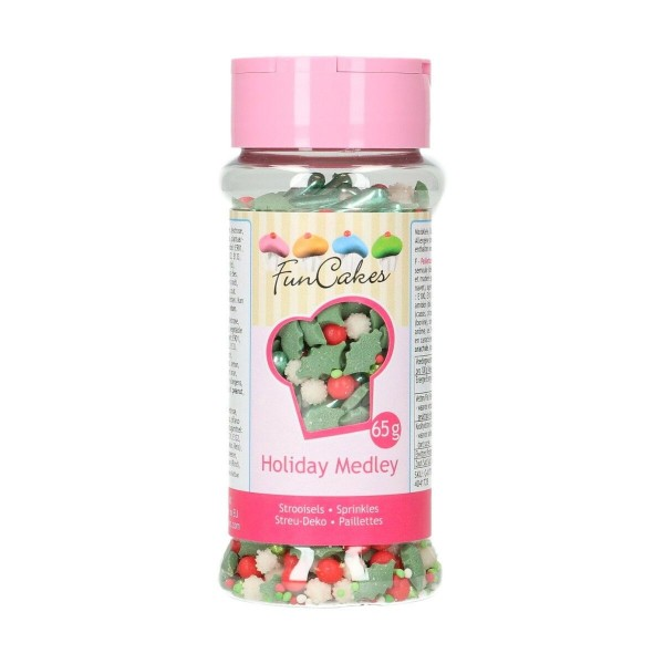Sprinkle medley Holiday 65 g FunCakes - Funcakes in vendita su Sugarmania.it