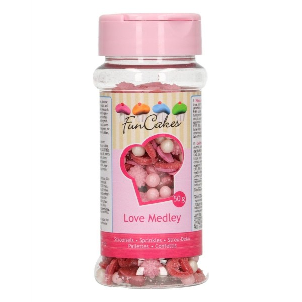 Sprinkle medley Love 50 g FunCakes - Funcakes in vendita su Sugarmania.it