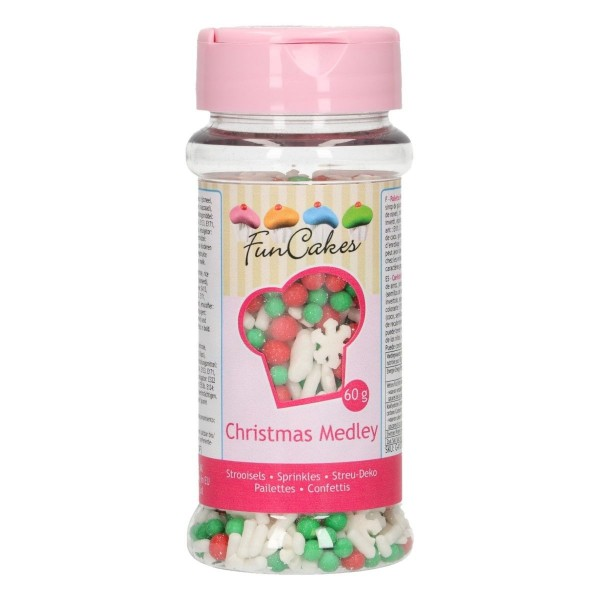 Sprinkle medley Natale 60 g FunCakes - Funcakes in vendita su Sugarmania.it