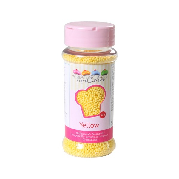 Mompariglia FunCakes GIALLO 80 g - Funcakes in vendita su Sugarmania.it