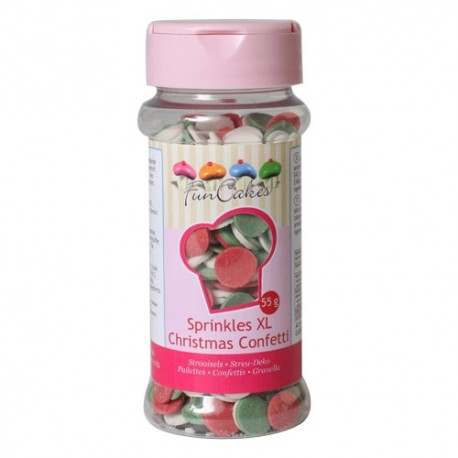 Confetti XL Christmas 55 g FunCakes - Funcakes in vendita su Sugarmania.it
