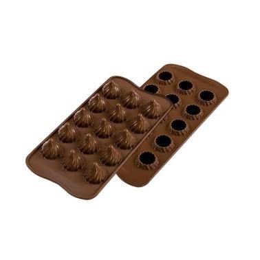 Stampo in silicone per cioccolatini Choco Flame Silikomart - Silikomart in vendita su Sugarmania.it