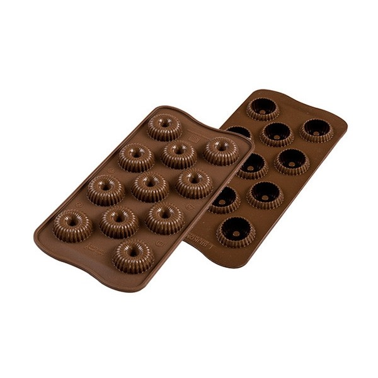 Stampo in silicone per cioccolatini Choco Crown Silikomart - Silikomart in vendita su Sugarmania.it