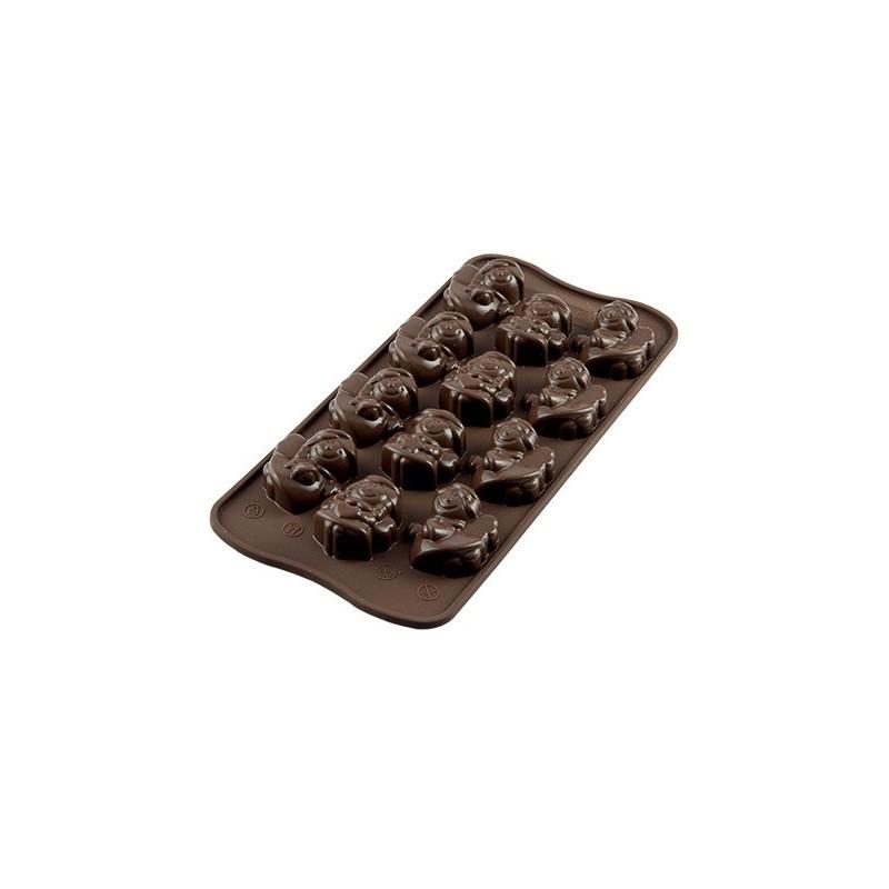 Stampo in silicone per cioccolatini Choco Angels Silikomart - Silikomart in vendita su Sugarmania.it