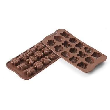 Stampo in silicone per cioccolatini Choco Spring life Silikomart - Silikomart in vendita su Sugarmania.it