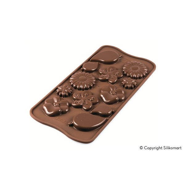 Stampo in silicone per cioccolatini Choco Garden Silikomart - Silikomart in vendita su Sugarmania.it