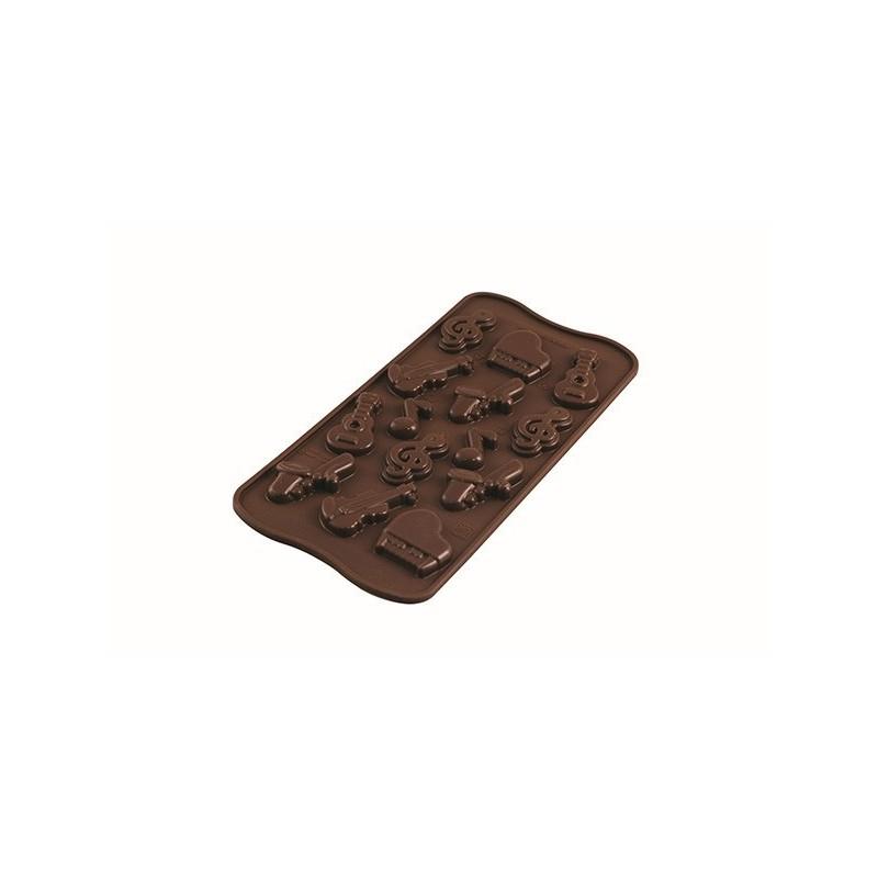 Stampo in silicone per cioccolatini Choco Melody Silikomart - Silikomart in vendita su Sugarmania.it
