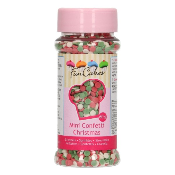 Mini confetti Christmas 60 g FunCakes - Funcakes in vendita su Sugarmania.it