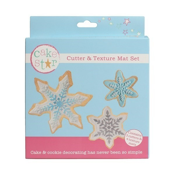Set 3 stampi fiocchi di neve con texture Cake Star -  in vendita su Sugarmania.it
