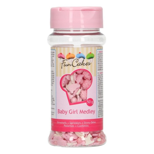 Sprinkle Baby Girl Medley 50 g FunCakes - Funcakes in vendita su Sugarmania.it