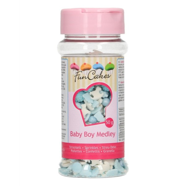 Sprinkle Baby Boy Medley 50 g FunCakes - Funcakes in vendita su Sugarmania.it