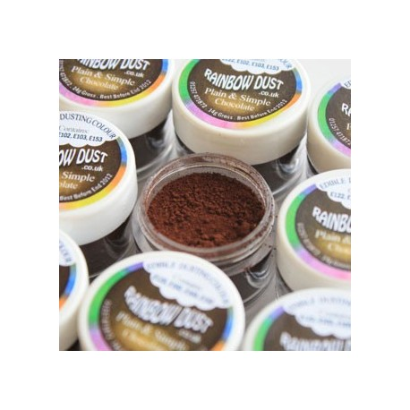 Plain&Simple - Chocolate - Rainbow Dust in vendita su Sugarmania.it