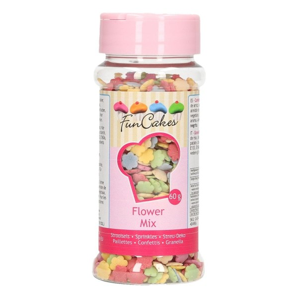 Zuccherini fiori mix 60 g FunCakes - Funcakes in vendita su Sugarmania.it