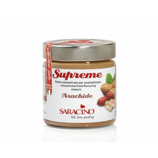 Pasta aromatizzante Arachide Le Supreme Saracino 200 g - Saracino in vendita su Sugarmania.it