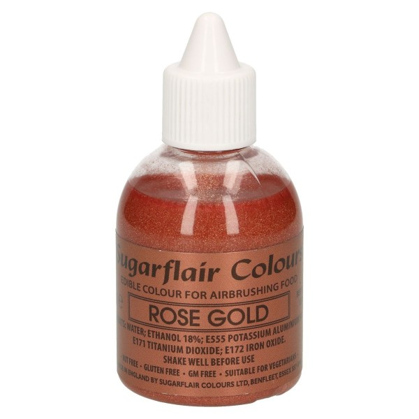 Colorante per aerografo Rose Gold Sugarflair 60 ml  - Sugarflair in vendita su Sugarmania.it