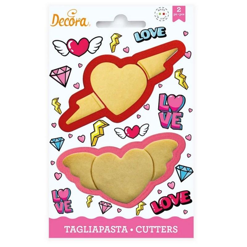 Set 2 tagliapasta Love Decora  - Decora in vendita su Sugarmania.it