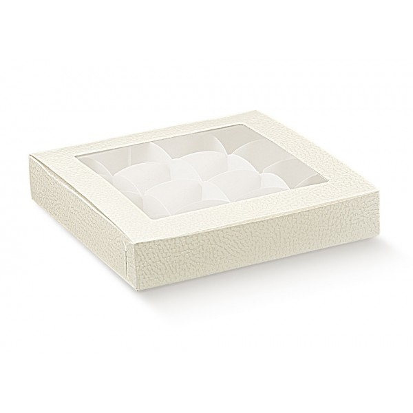 Scatola dolcetti e cioccolatini h 3 cm con finestra e inserto - Scotton in vendita su Sugarmania.it
