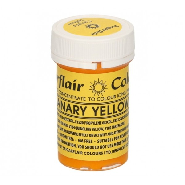 Sugarflair Paste Colour Canary yelow 25gr. - Sugarflair in vendita su Sugarmania.it