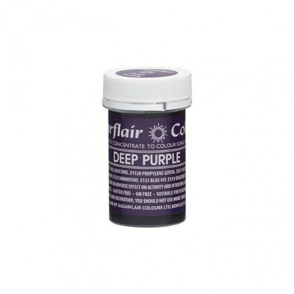 Sugarflair Paste Colour Deep Purple, 25gr. - Sugarflair in vendita su Sugarmania.it