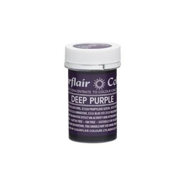 Sugarflair Paste Colour Deep Purple, 25gr. - Sugarflair in vendita su Sugarmania.it