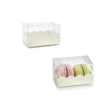 10 pz scatole per macarons trasparenti fondo bianco - Scotton in vendita su Sugarmania.it