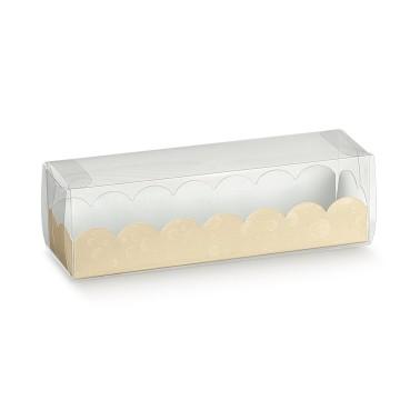 10 pz scatole per macarons trasparenti fondo crema - Scotton in vendita su Sugarmania.it