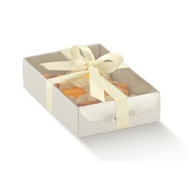 Scatola per biscotti e macaron h 3,5 cm coperchio trasparente - Scotton in vendita su Sugarmania.it