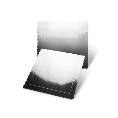 Sottotorta quadrato argento bordo smerlato -  in vendita su Sugarmania.it
