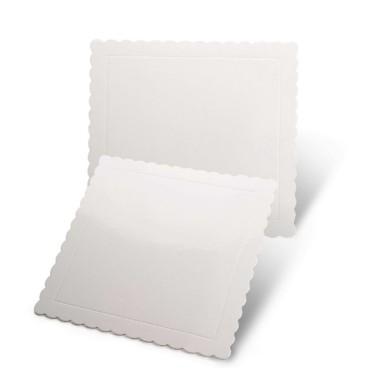 Sottotorta quadrato bianco bordo smerlato -  in vendita su Sugarmania.it