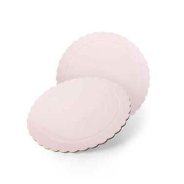 Sottotorta tondo rosa baby bordo smerlato -  in vendita su Sugarmania.it