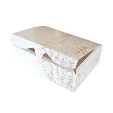 Scatola per biscotti e macarons con scritte oro argento media -  in vendita su Sugarmania.it